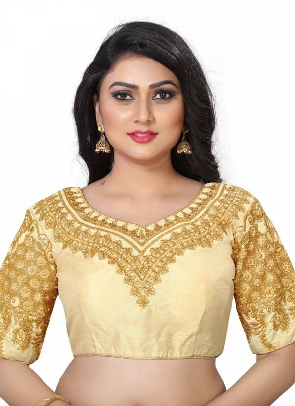 Ruhi Fashion Heavy Phantom Silk Embroidery Work Wedding Wear Blouse Collection