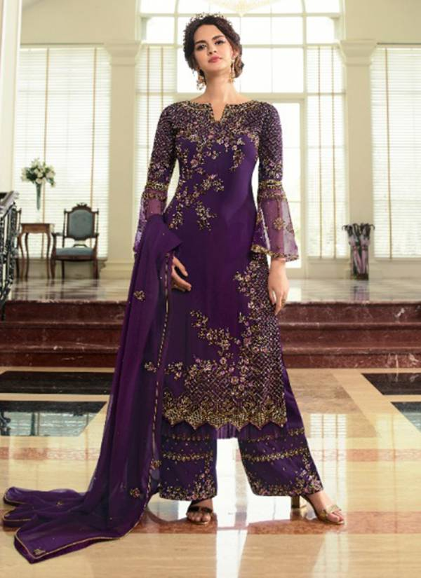Fiona Navya Vol 2 Series 22831-22833 Faux Georgette Latest Designer Wedding Wear Fancy Work Palazzo Suits Collection