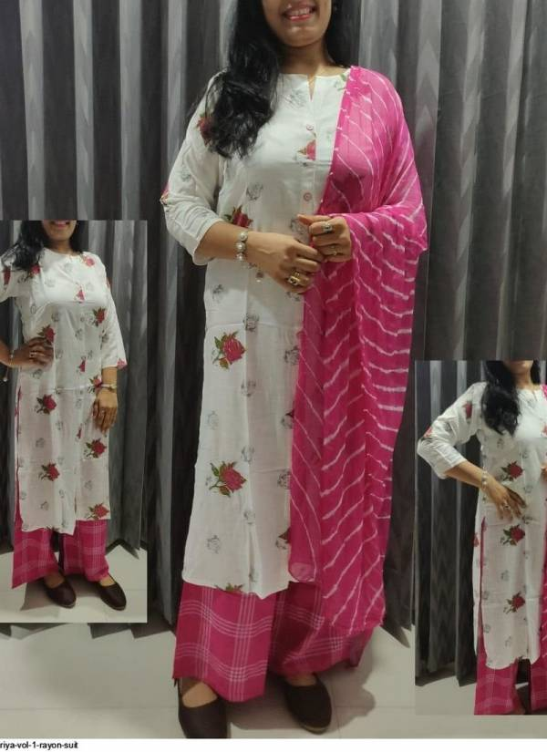 Suman Lehariya Vol 1 Rayon Slub Butter Silk Traditional Wear Readymade Plazzo Salwar Suit Collections