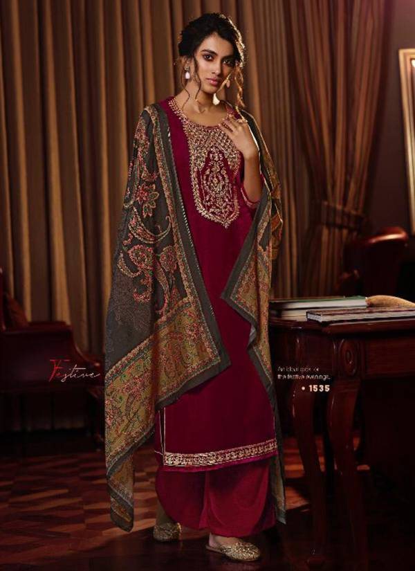 Glossy Velvet Series 1530-1537 Pure Velvet With Fancy Embroidery Work Party Wear Suits Collection