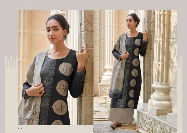 Varina Fern Series V-1 - V-8 New Cotton Satin With Digital Printed Designer Casual Wear Palazzo Suits Collection