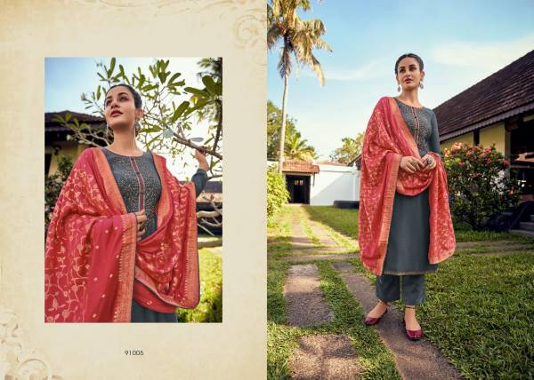 Deepsy Merci Linen Silk With Self Embroidery Work Festival Wear Suits Collection