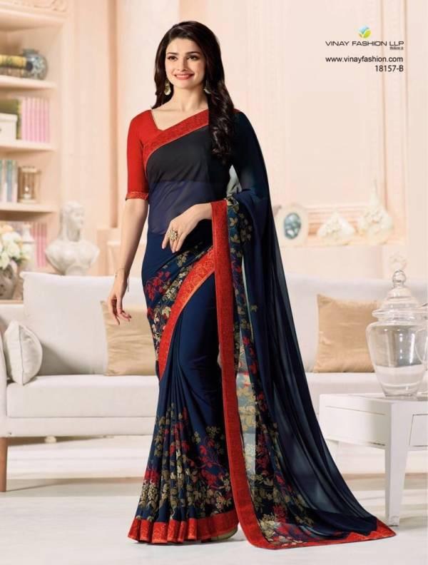 Nakshatra Fashion Studio Vol 1 Georgette Fancy Digital Printed Work Regular Wear Designer Sarees Collection