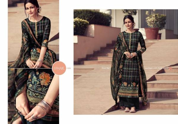 Glossy Fashion Paritaa Series 252-259 Pure Jam Satin Digital Printed With Hand Work Palazzo Suits Collection