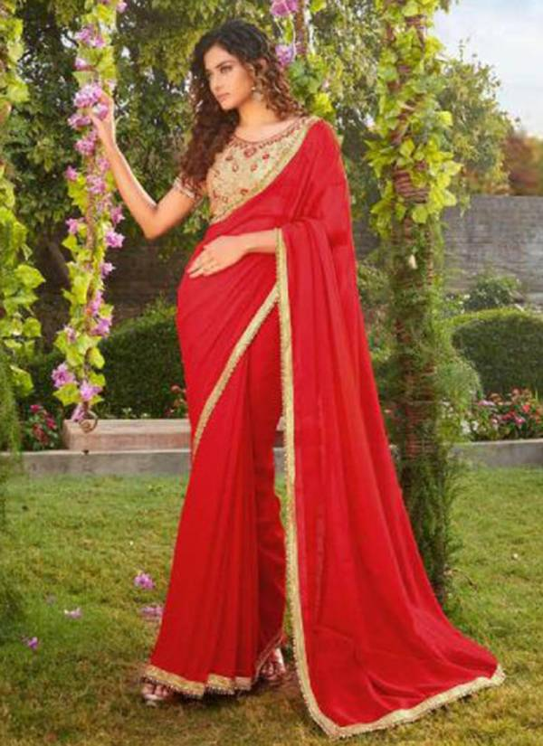 Kalista Glam Girl New Latest Georgette Festival Wear Designer Saree Collections