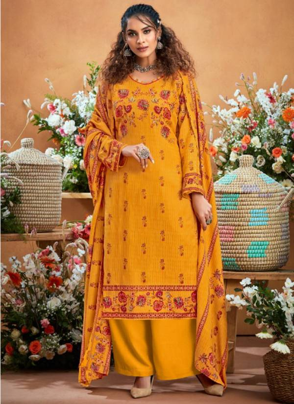 Zulfat Designer Suits Winter Beauty Series 225-001 - 225-010 Pure Pashmina Digital Style Print Winter Wear New Suits Collection