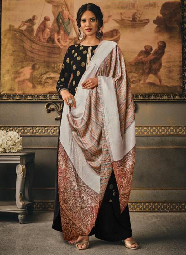 Kalki Fashion Aayat Series AAYAT-327-AAYAT-332 Pure Viscose Jacquard  Butti Pashmina Festival Wear Palazzo Suits Collection