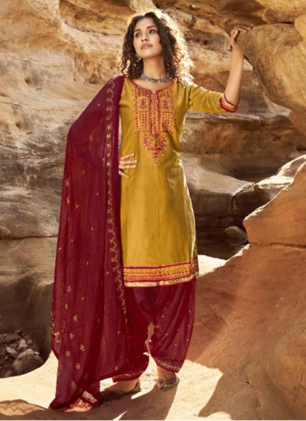 Kalaroop Fashion Of Patiyala Vol 29 Series 12281-12290 Jam Silk With Cotton Inner Fancy Work Latest Designer Readymade Patiyala Suits Collection