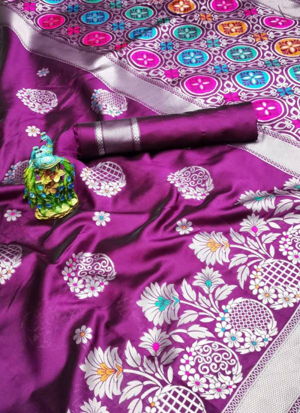 Shiv Enterprise Series 1GA-5GA Soft Lichi Silk Plain Weaving Border Work Festival Wear New Designer Sarees Collection