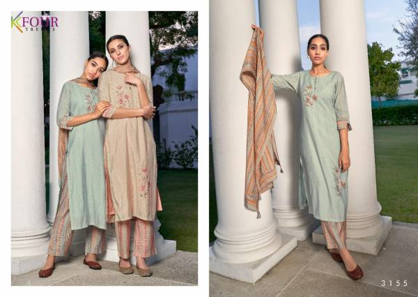 K-Four Gulnaz Cotton With Additional Handwork Party Wear Readymade  Designer Salwar Suit Collection