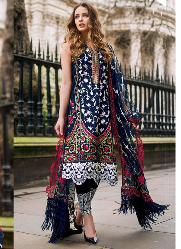 Fepic Rosemeen Net Santoon Heavy Embroidery Eid Special Wear Pakistani Salwar Suit Collections