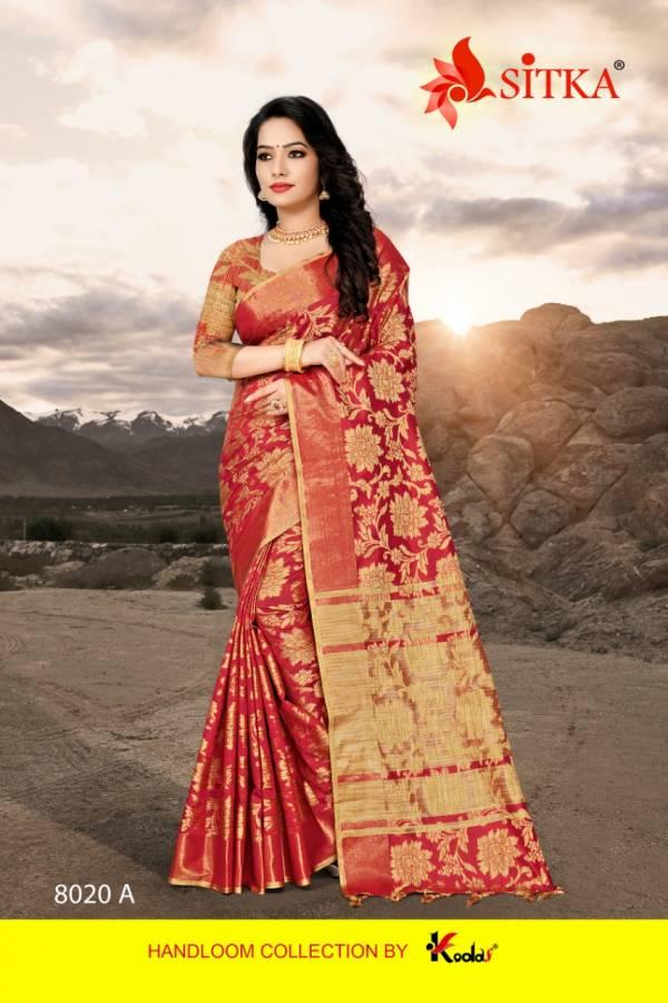 Kodas Silent 8020 Series 8020A-8020F Silk With Diamond Work Party Wear Sarees Collection