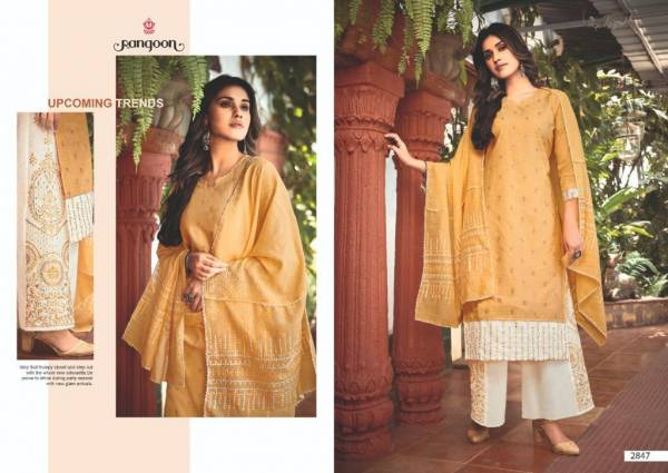 Rangoon Starlight Heavy Cotton With Value Embroidery Work Readymade Suits Collection