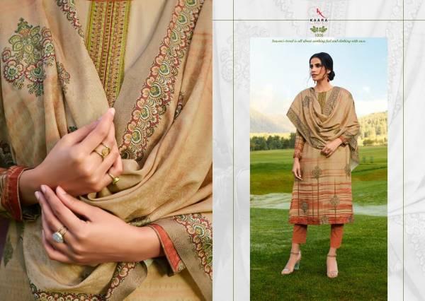 Kaara Gulkand New Fancy Embroidery Work Pashmina Salwar Suits Collection