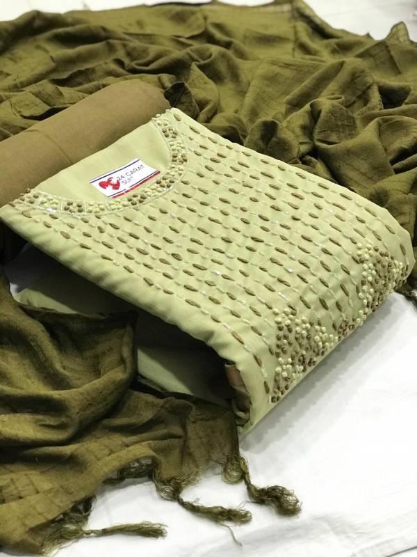 VT Designer Stylish Cotton Silk With Hand Work Non Catalog Salwar Suits Collection
