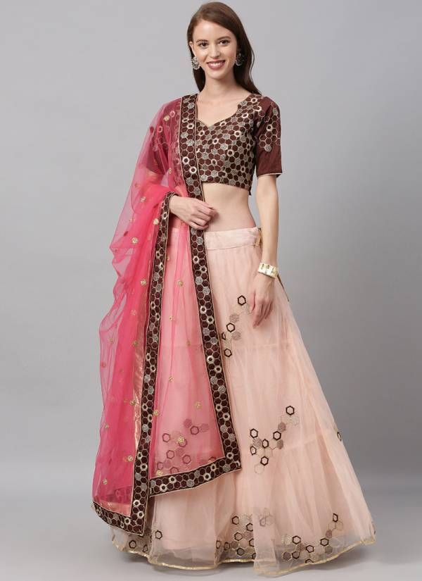 Kesari Exports Series 5008-5298 Silk And Net Embroidery Sequence With Coading Stone Work Party Wear Lehenga Choli Collection