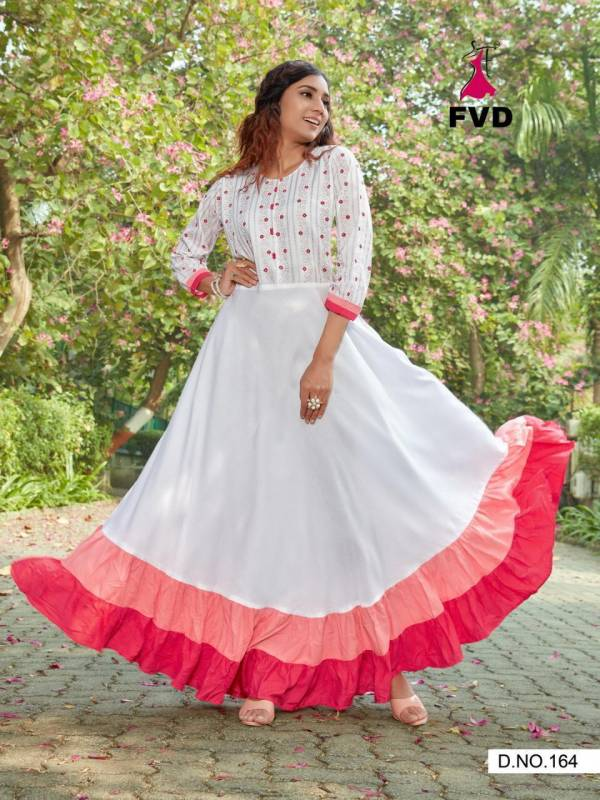 Fashion Valley Dresses London Dreams Vol 1 Series 164-171 Rayon With Foil Printed Long Fancy Gown Collection