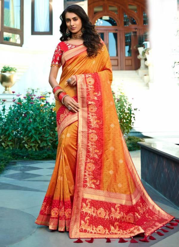 Royal Vrindavan Vol 11 Series 10073-10079 Pure Banarasi Silk Latest Designer Wedding & Party Wear Sarees Collection