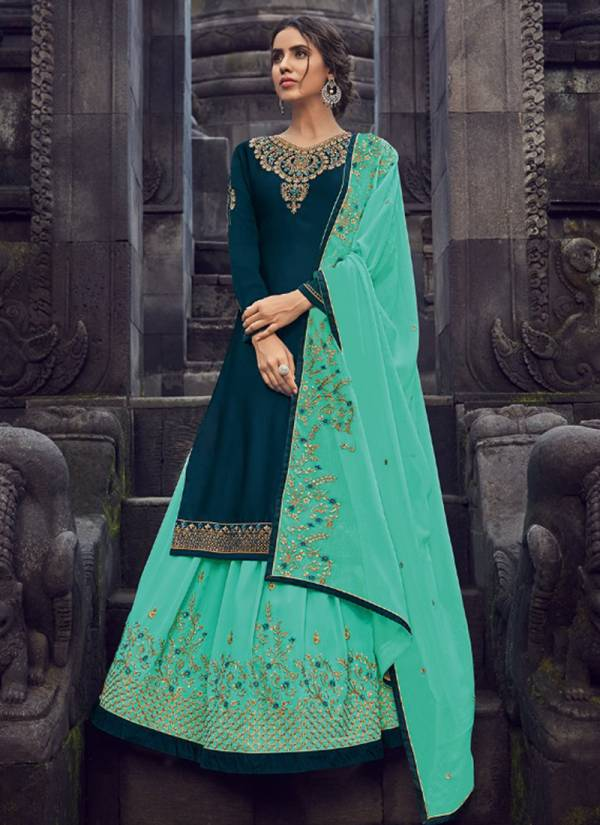Amyra Designer Panghat Vol 6 Series 130-135 Georgette Satin Latest Designer Heavy  Embroidery & Diamond Work Lehenga Reception Wear Suits Collection