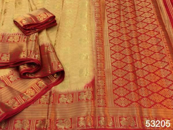 Nakshatra Fashion Studio Nylon Silk Zari Weaving Work Reach Pallu Non Catalogues Sarees Collection