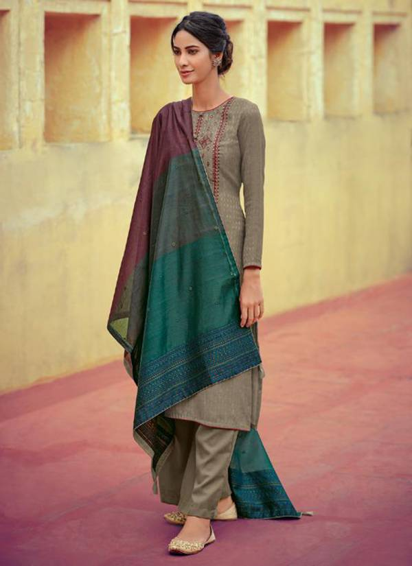 Deepsy Zariah Series 77001-77006 Self Woven Pashmina Print With Fancy Embroidery Work Winter Season Suits Collection
