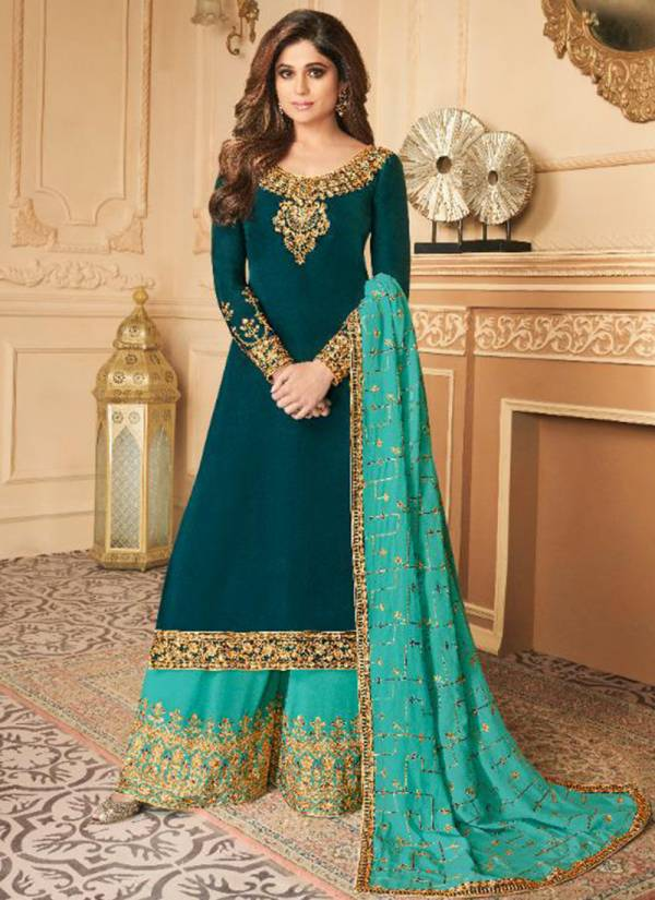 Aashirwad Damini Series 7178-7183 Premium Satin Silk With Dull Santoon Inner Party Wear Exclusive Suits Collection