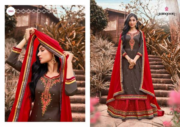 Rangoon Apsara Vol 3 Jam Silk with Embroidery Work Wedding Wear Readymade  Lehenga Suit Collection