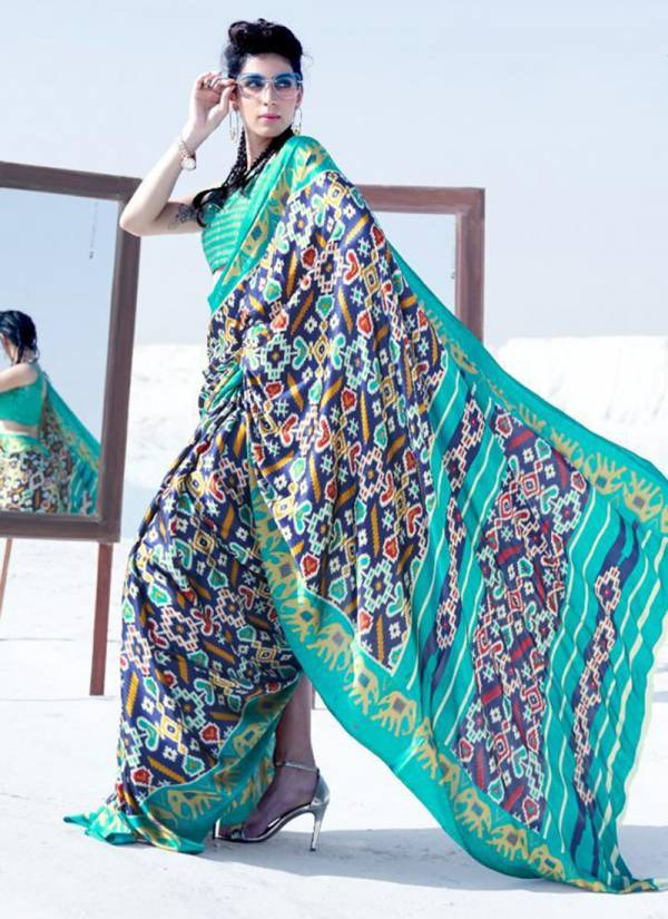 Rajtex Kavanya Series 156001-156018 Japan Satin Crepe Printed Beautiful Latest Designer Sarees Collection