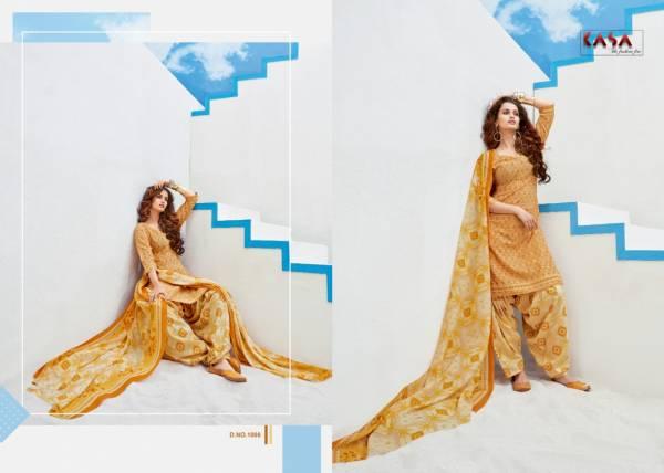 Suryajyoti Kasa Saira Vol 1 Series 1001-1010 Readymade Patiyala Salwar Printed Cotton Fancy Regular Wear Salwar Kameez Suits Collection