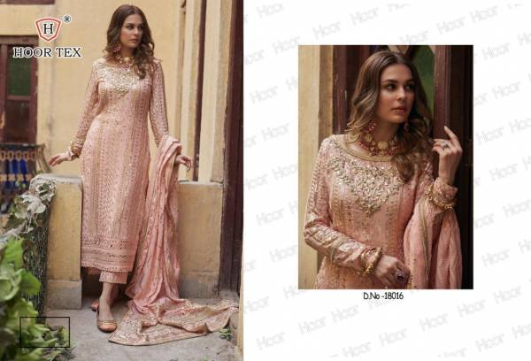 Hoor Tex Rista Vol 1 Heavy Georgette With Embroidery Work Pakistan Suits Collection