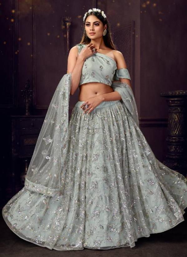 Panvi Diva Vol 2 Soft Net With Thread Sequence Work Designer Lehenga Cholis Collection