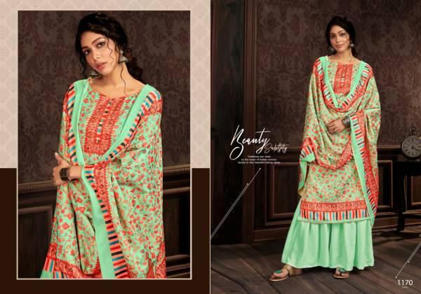 Bipson Kashmiri Queen 7 Series 1170-1173 Latest Designer Winter Wear Pure Pashmina Digital Print Casual Wear Salwar Suits Collection