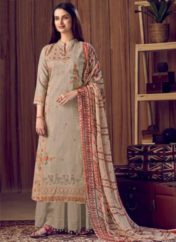 Alok Suit Aarika Series S-507-001 - S-507-010 Pure Wool PAshmina Digital Print With Swarovski Diamond Work New Designer Suits Collection