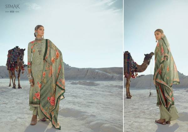 Glossy Fashion Florencia Series 954-961 Pure Lawn Cotton With Digital Print Embroidery Work Designer Palazzo Suits Collection