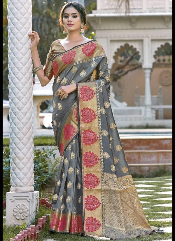 Sangam Prints Kanupriya Silk Fancy Embroidery Work With Rich Pallu Designer Sarees Collection