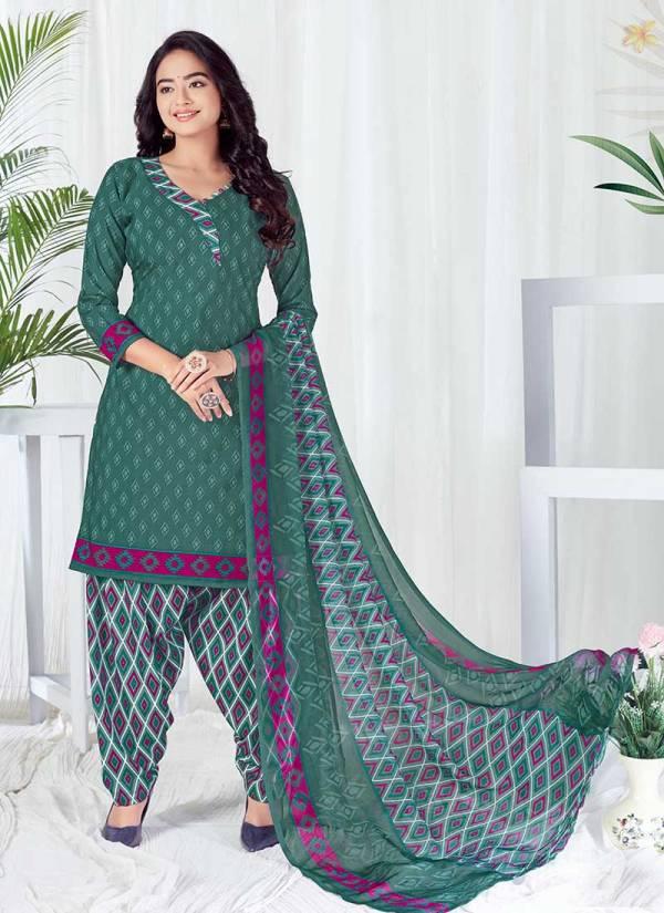 Shree Gurukrupa Dresses Alena Butter Crape Fancy printed Designer Patiyala Collection