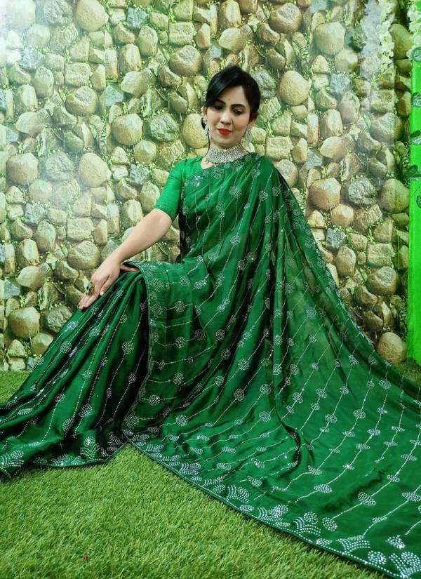 Razzo Export Georgette Rangoli Silk Fancy Work Wedding Wear Designer Sarees Collection