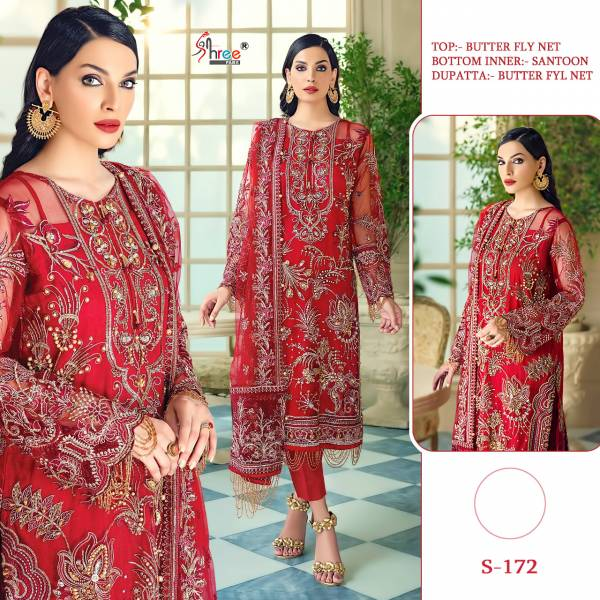 Shree Fab Series 118-209 Butterfly Net With Embroidery Work Festival Special New Designer Pakistani Suits Collection