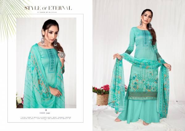 Kesari Exports Zaara Soft Jam Regular Wear Fancy Palazzo Suit Collection
