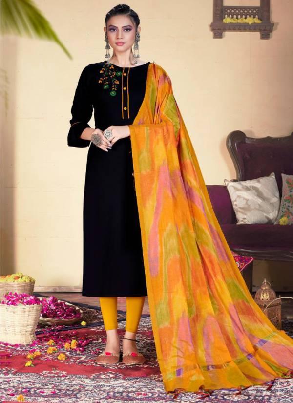 Riya Designer Inayat Vol 2 Series 1001-1005 Heavy Rayon With Hand Khatli Work New Designer Kurtis With Dupatta Collection