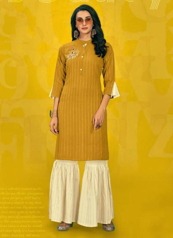 Poonam Designer Sarara House Vol 2 Series 2001SH-2006SH Latest Rayon With Embroidery Work New Fancy Kurtis With Sharara Palazzo Collection