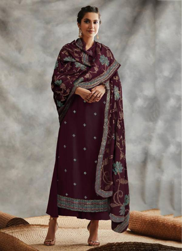 Kimora Fashion Fitoor Series 1708-1711 Pure Dola Silk With Embroidery Butti Work New Designer Palazzo Suits Collection