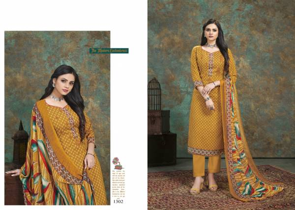 Bipson Naaz Cotton Slub Printed With Fancy Work Straight Suits Collection