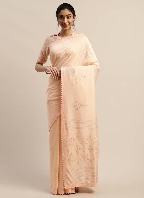 Kesari Exports PFB-43 - PFB-50 Nylon Viscose With Thread Work Designer Festival Wear Sarees Collection