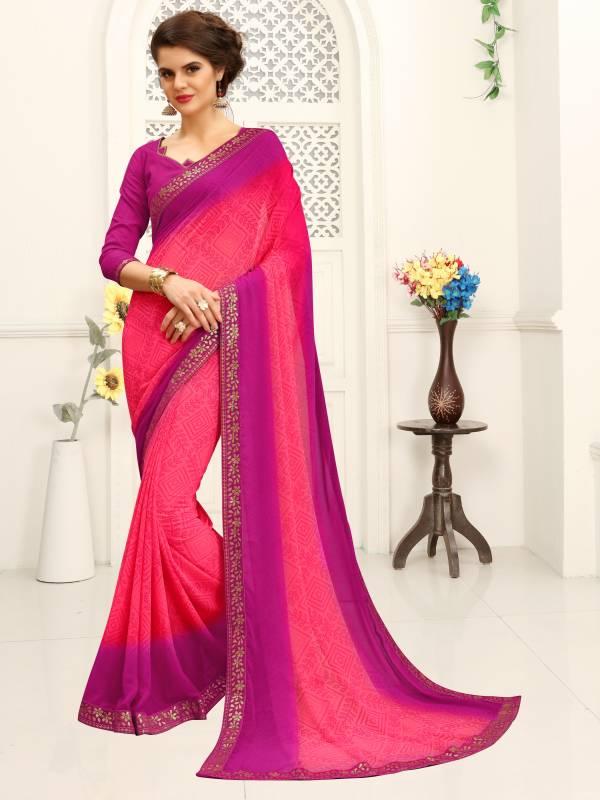 Nakshatra Fashion Studio Vol 3 Georgette Fancy Printed Work Daily Wear Designer Sarees Collection