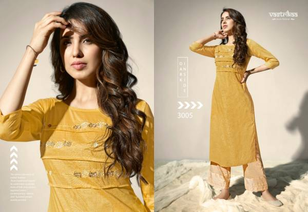 Vastrikaa Meher Fancy Cotton Silk Designer Kurtis With Palazzo Collection