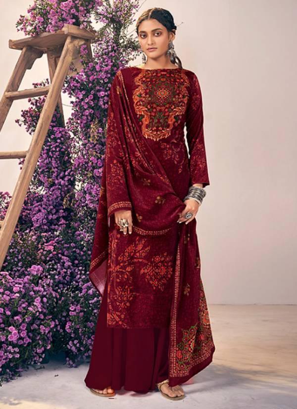 Belliza Rangriti Series 621-001 - 621-008 Velvet Digital Print Stylish Look Casual Wear Suits Collection