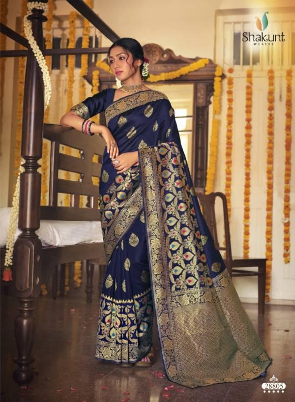 Shakunt  Anshika Jacquard Silk Paithani Wedding Wear Sarees collection