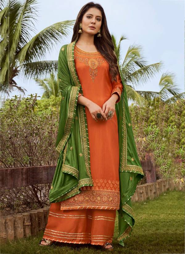 Triple AAA Kanchan Series 321K-326K Pure Upada Silk Embroidery Work Latest Designer Festival Wear Suits Collection