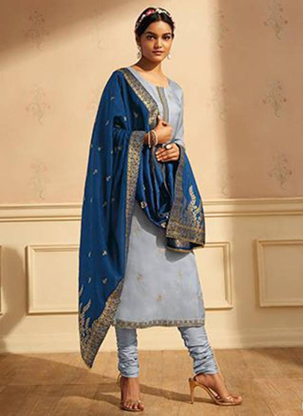 Ganga Raag Series C0232-C0237 Pure Silk With Embroidery & Zari Lace Border Work Festival Wear Party Wear Palazzo Suits Collection